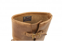 Flat Head Goodyear Welted Engineer Boots - Natural Pull-Up Chromexcel - Image 2