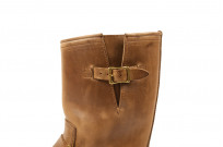 Flat Head Goodyear Welted Engineer Boots - Natural Pull-Up Chromexcel - Image 3