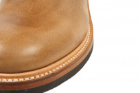 Flat Head Goodyear Welted Engineer Boots - Natural Pull-Up Chromexcel - Image 5