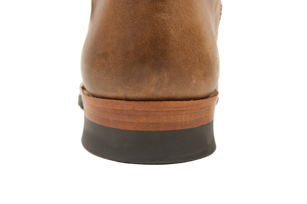 Flat Head Goodyear Welted Engineer Boots - Natural Pull-Up Chromexcel - Image 7