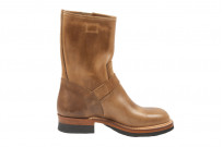 Flat Head Goodyear Welted Engineer Boots - Natural Pull-Up Chromexcel - Image 9