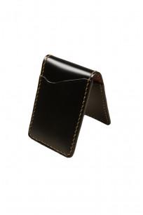 Flat Head Shell Cordovan Small Wallet - Black - Image 0
