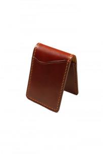 Flat Head Shell Cordovan Small Wallet - Dark Tan - Image 0