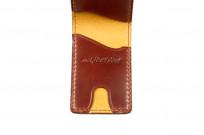 Flat Head Shell Cordovan Small Wallet - Dark Tan - Image 2