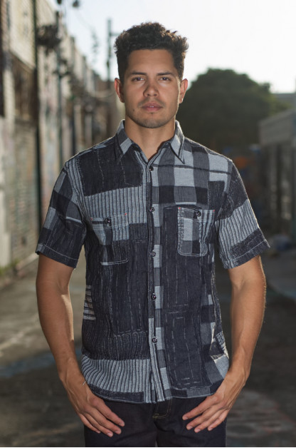 Sugar Cane Boro Denim Short Sleeve Shirt