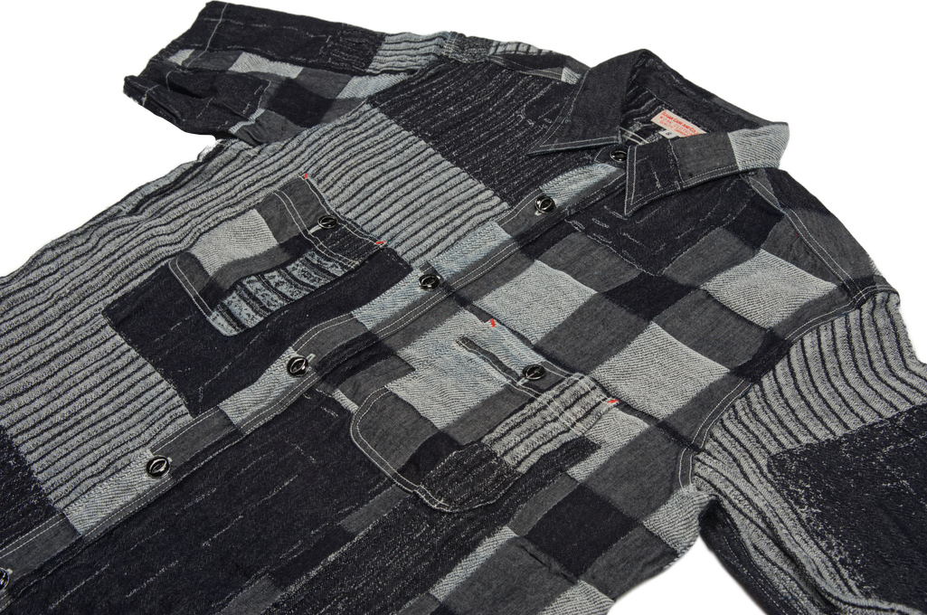 3f2198955f5 Sugar Cane Boro Denim Short Sleeve Shirt