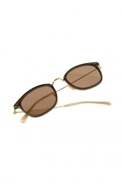 Globe Specs Titanium & Acetate Sunglasses - Ethan / Dark Green