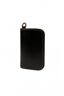 Iron Heart Cordovan Mid-Length Wallet - Black - Image 0