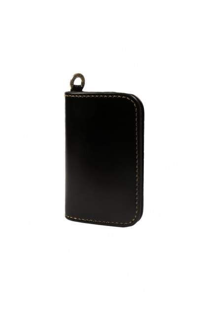 Iron Heart Cordovan Mid-Length Wallet - Black