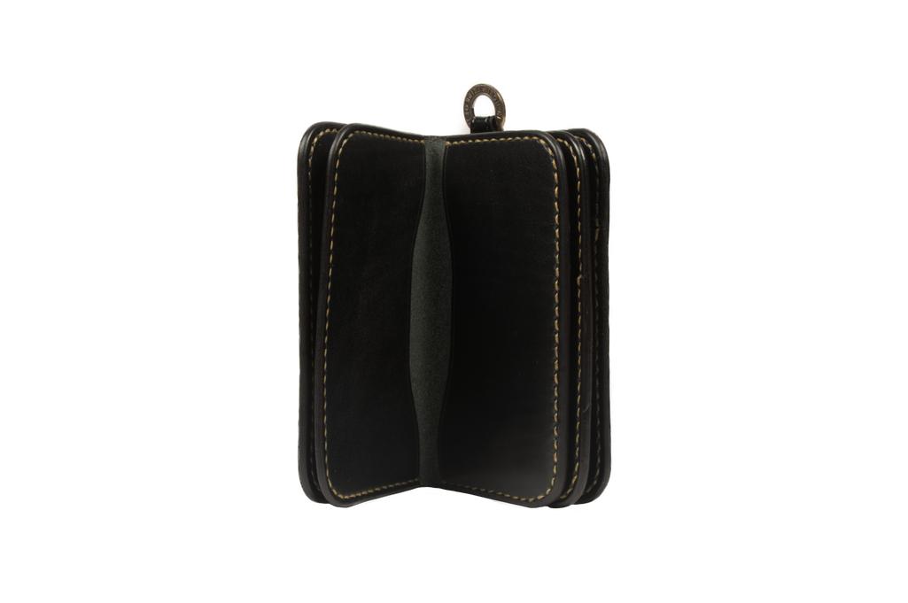 Iron Heart Cordovan Mid-Length Wallet - Black - Image 2