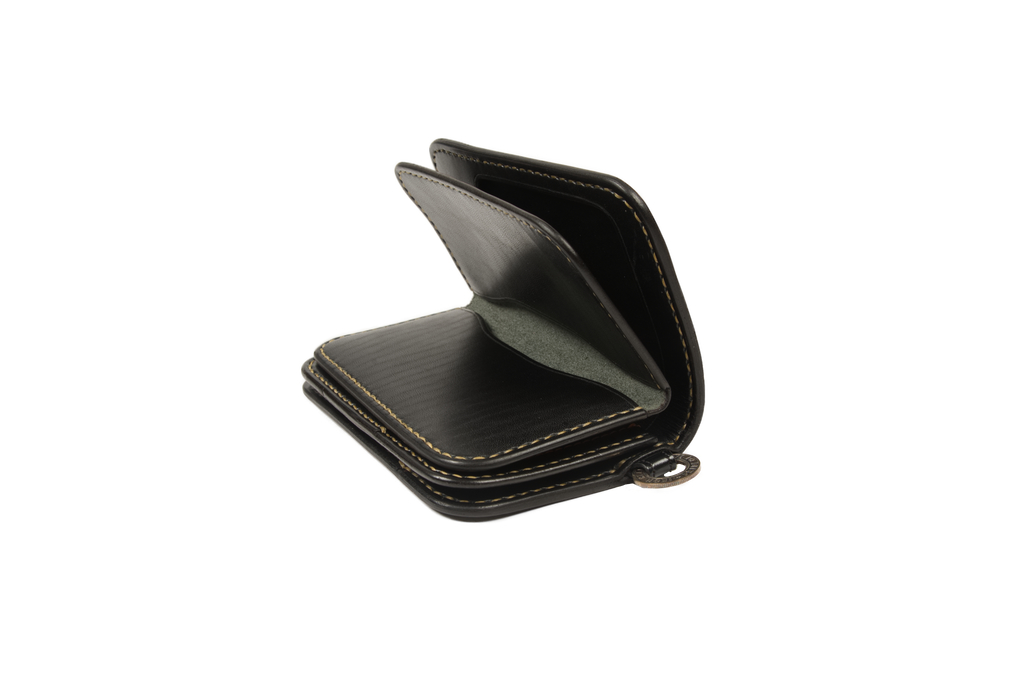 Iron Heart Cordovan Mid-Length Wallet - Black - Image 3