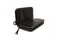 Iron Heart Cordovan Mid-Length Wallet - Black - Image 5