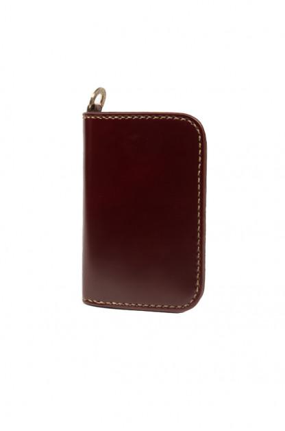 Iron Heart Cordovan Mid-Length Wallet - Ox-Blood