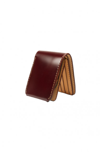 Iron Heart Folding Cordovan Wallet - Ox-Blood