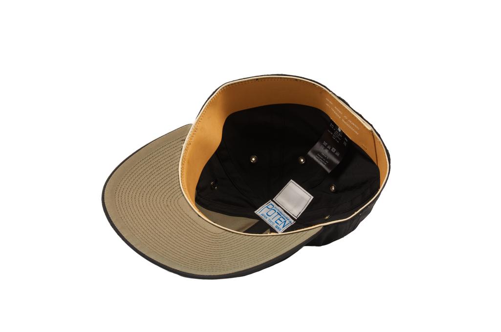 Poten Japanese Made Cap - Black Nylon - Image 2