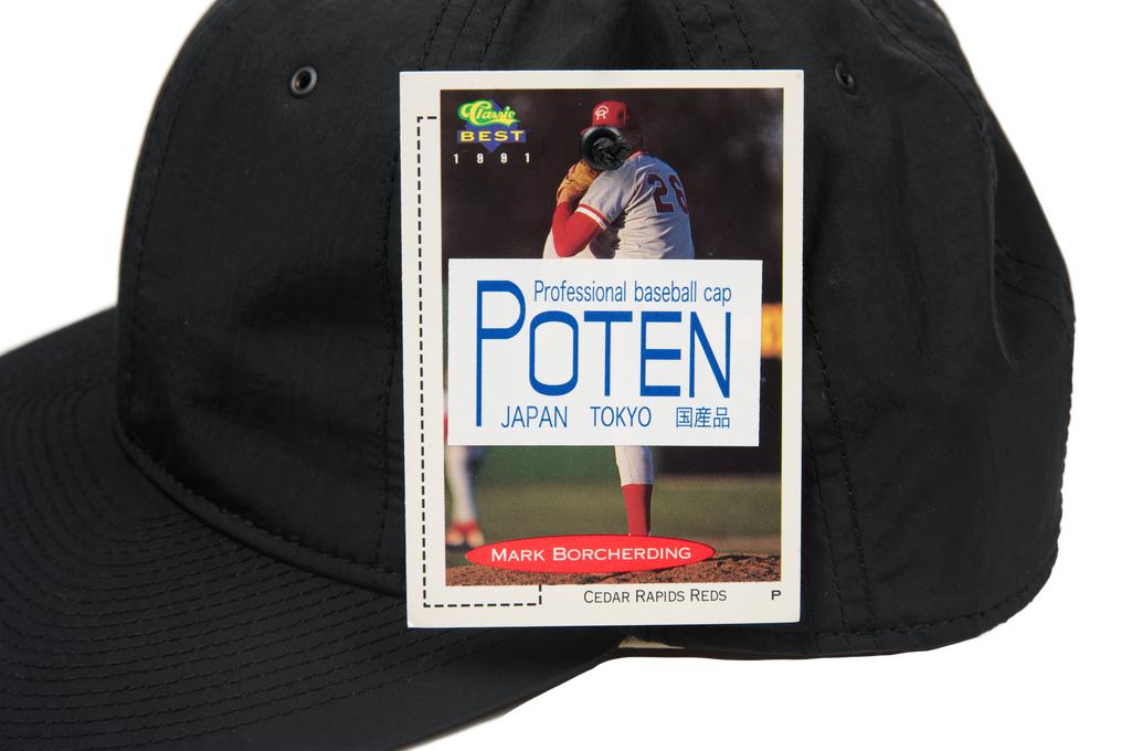 Poten Japanese Made Cap - Black Nylon - Image 6