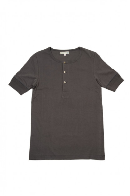 Merz B. Schwanen 2-Thread Heavy Weight T-Shirt - Henley Stone