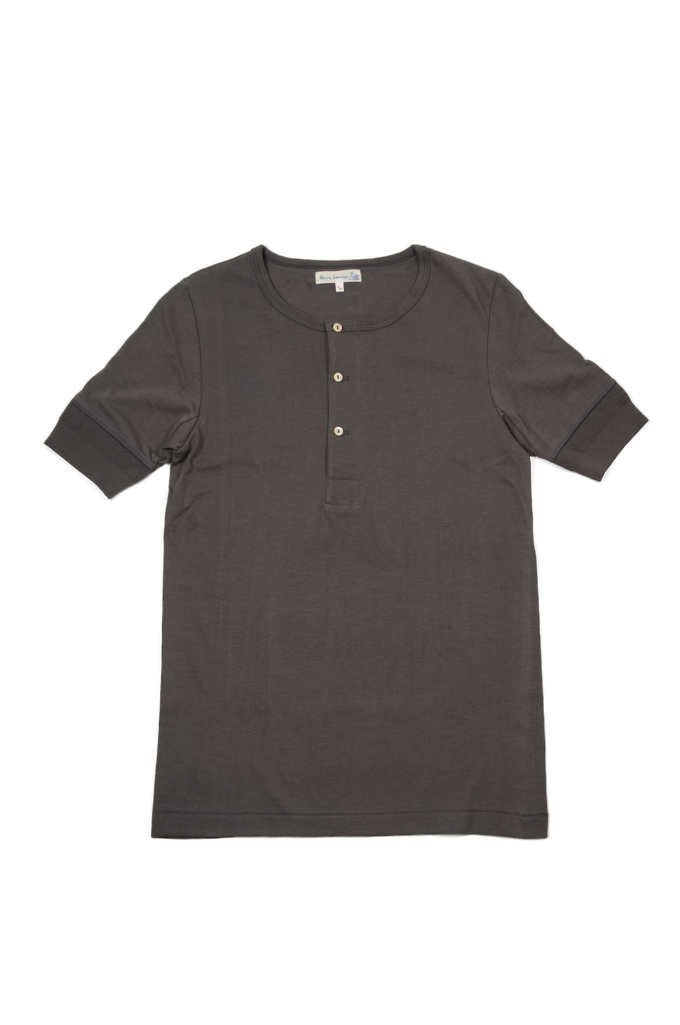 Merz B. Schwanen 2-Thread Heavy Weight T-Shirt - Henley Stone - Image 0