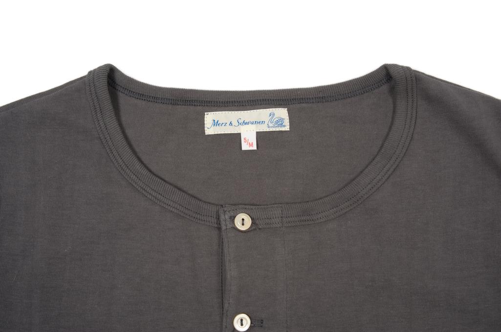 Merz B. Schwanen 2-Thread Heavy Weight T-Shirt - Henley Stone - Image 2
