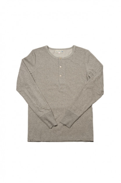 Merz B. Schwanen 2-Thread Heavy Weight Henley - Long Sleeve Henley Gray