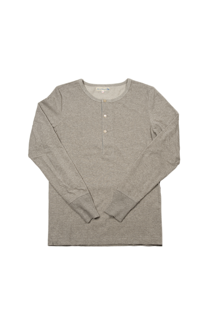Merz B. Schwanen 2-Thread Heavy Weight Henley - Long Sleeve Henley Gray - Image 0