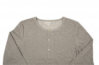 Merz B. Schwanen 2-Thread Heavy Weight Henley - Long Sleeve Henley Gray - Image 1