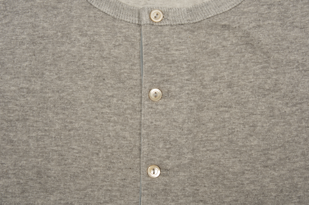 Merz B. Schwanen 2-Thread Heavy Weight Henley - Long Sleeve Henley Gray - Image 5