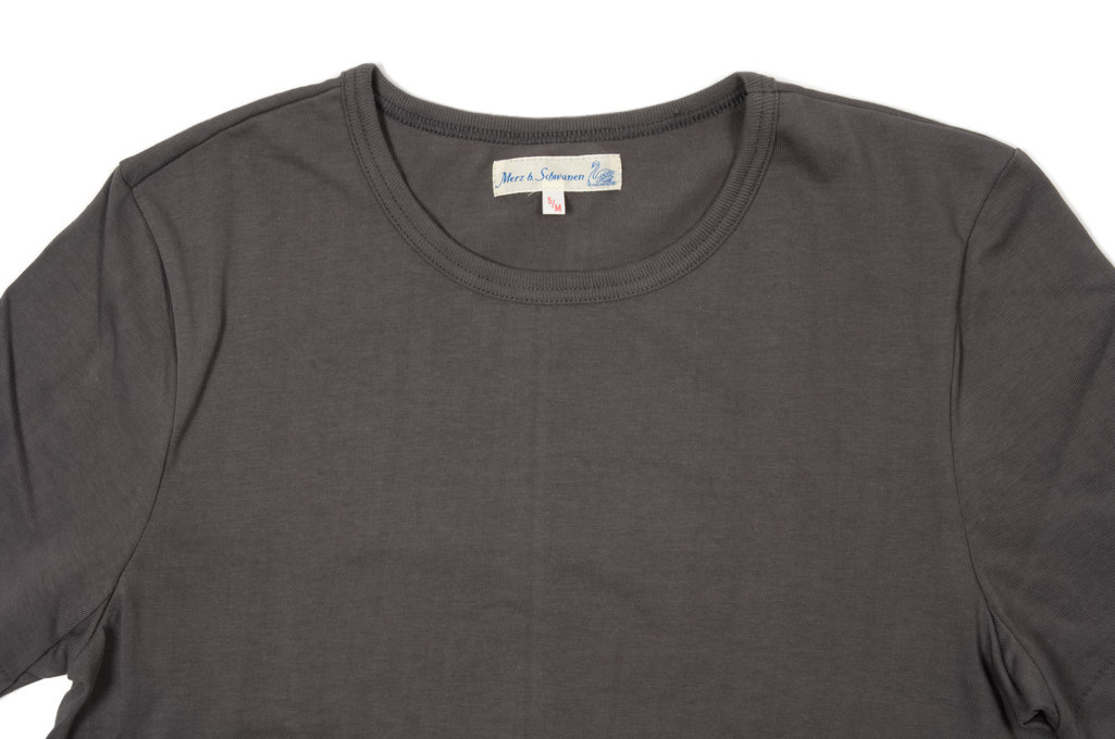 Merz B. Schwanen 2-Thread Heavy Weight T-Shirt - Stone T-Shirt - Image 1