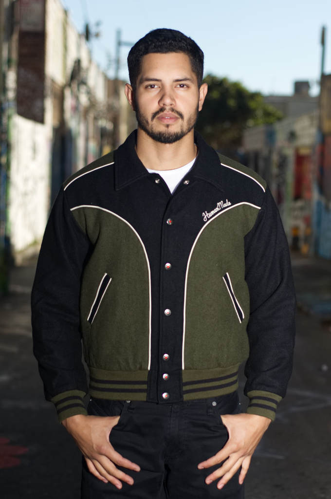 Human Made GFFT Chainstitch Embroidered Varsity Jacket - Image 0