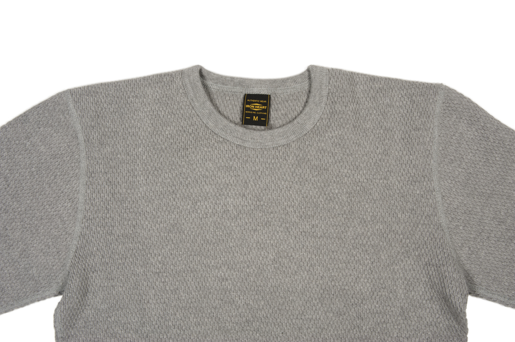 Iron Heart Extra Heavy Cotton Knit Thermal - Gray - Image 3