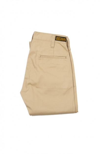 Iron Heart Selvedge Chinos IH-721 - Slim Cut Khaki