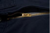Iron Heart Selvedge Chinos IH-721 - Slim Cut Navy - Image 9