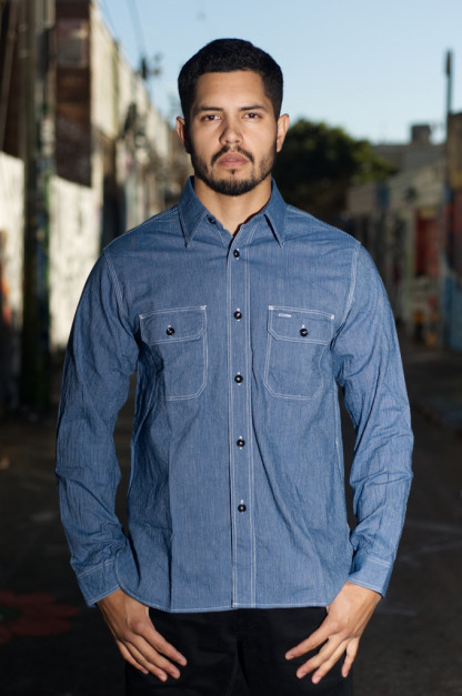 Sugar Cane Workshirt - Navy Jean Cord