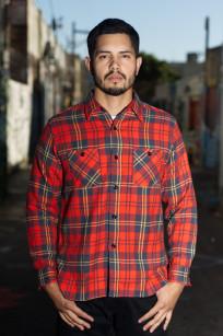 Sugar Cane Twill Check Winter Flannel - Red Check - Image 0