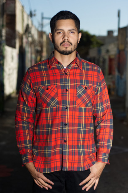 Sugar Cane Twill Check Winter Flannel - Red Check