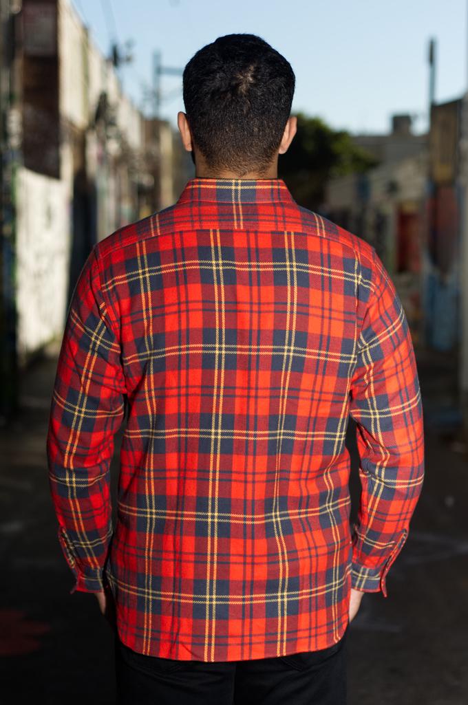 Sugar Cane Twill Check Winter Flannel - Red Check - Image 1