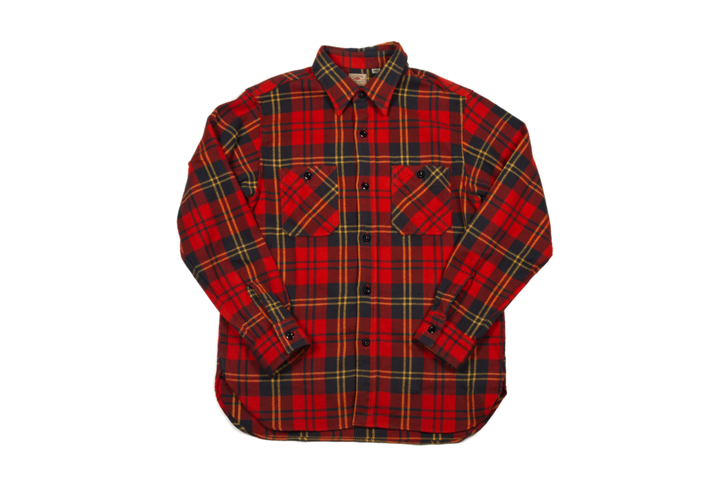 Sugar Cane Twill Check Winter Flannel - Red Check - Image 2