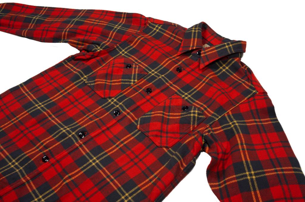 Sugar Cane Twill Check Winter Flannel - Red Check - Image 5