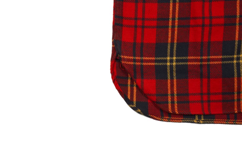 Sugar Cane Twill Check Winter Flannel - Red Check - Image 6