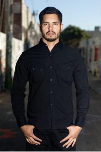 Stevenson Cody Snap Shirt - Black/Black Denim - Image 0
