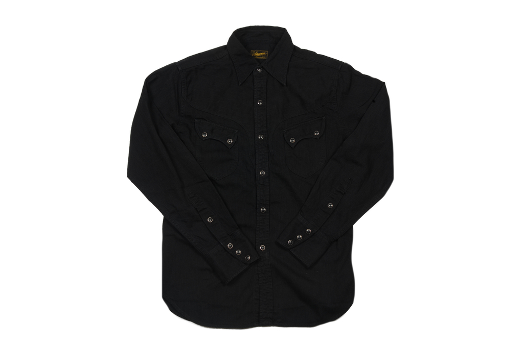 Stevenson Cody Snap Shirt - Black/Black Denim - Image 2