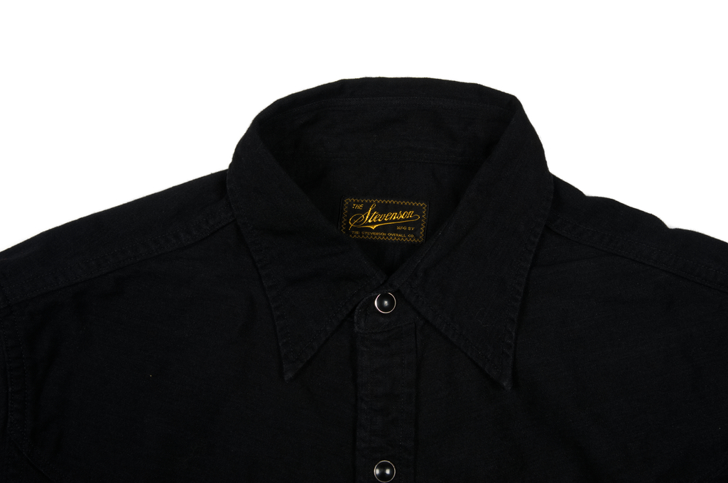 Stevenson Cody Snap Shirt - Black/Black Denim - Image 4