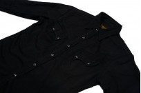 Stevenson Cody Snap Shirt - Black/Black Denim - Image 5