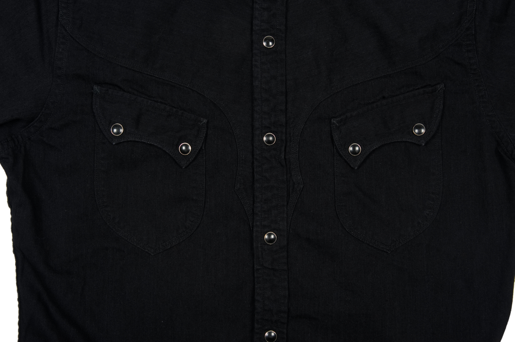 Stevenson Cody Snap Shirt - Black/Black Denim - Image 6