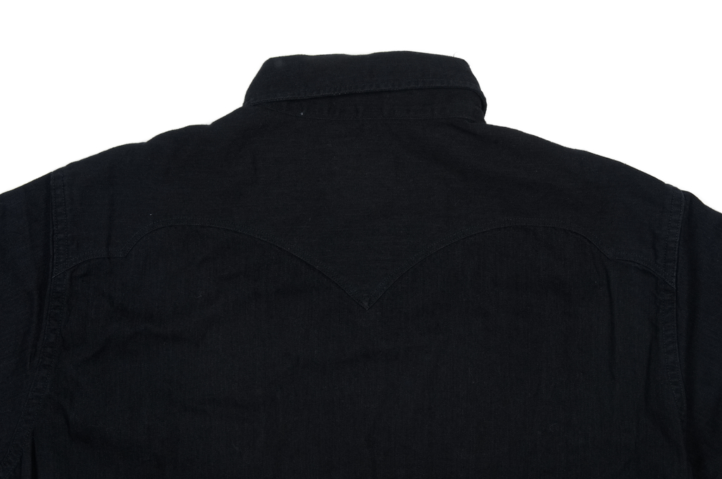 Stevenson Cody Snap Shirt - Black/Black Denim - Image 7