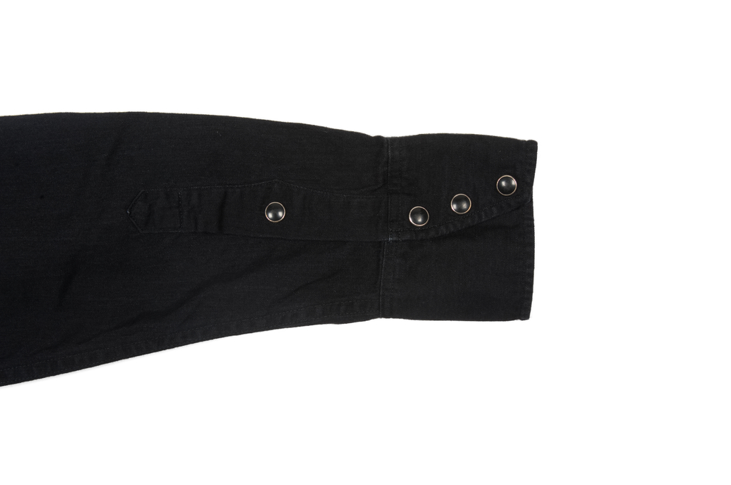 Stevenson Cody Snap Shirt - Black/Black Denim - Image 8