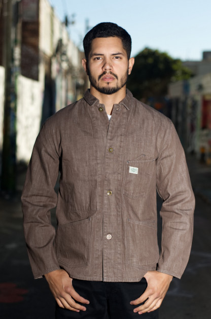 Stevenson Golden Gate Jacket - 12oz Sulfur Brown Denim