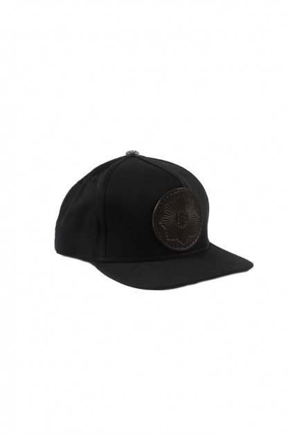 Good Art x Gregoire Adjustable Cotton & Leather Cap - Black