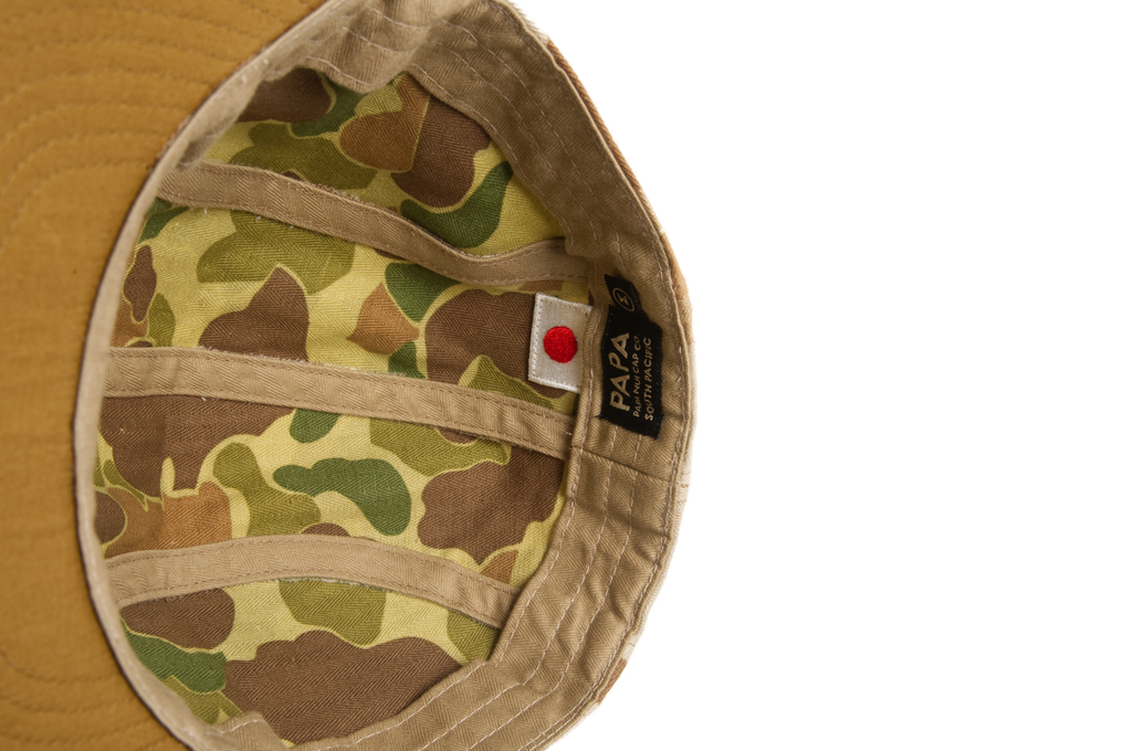 Papa Nui Okinawa Cap - Herringbone Cotton Twill - Image 3