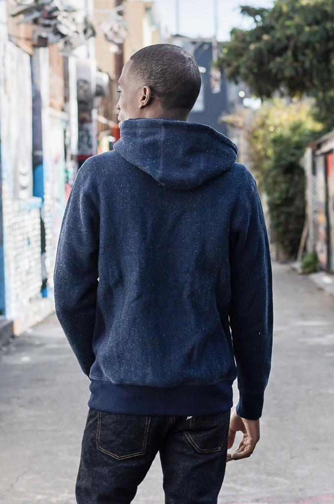 3sixteen Heavyweight Hoodie - Indigo Dyed Zip - Image 6